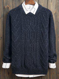 Arrows Kink Design Crew Neck Long Sleeve Sweater - Blue Xl