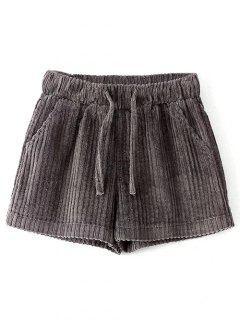 Winter Corduroy Shorts - Gray M