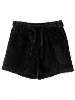 Invierno Pana Pantalones Cortos - Negro S