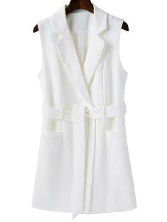 Sleeveless Blazer - White L