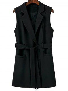 Sleeveless Blazer - Black S