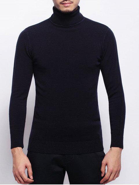 Stretchy Pullover Rollkragenpullover - Schwarzblau L Mobile