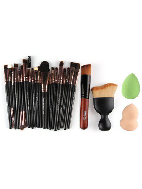 womens 22 Pcs Face Eye Makeup Brushes and Makeup Sponges -   Mobile