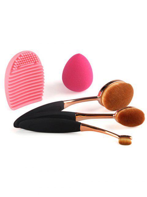 3 Pcs Brosses à dents en forme de maquillage  + éponge de maquillage en forme de larme + brosse d'oeuf - Noir  Mobile
