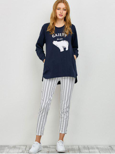 shops Slouchy Sweatshirt and Leggings Lounge Set - PURPLISH BLUE XL Mobile