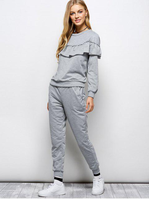buy Flounced Sweatshirt and Jogger Pants -   Mobile