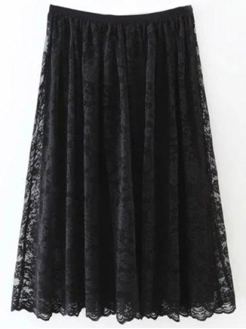outfit A Line Lace Skirt - BLACK S Mobile