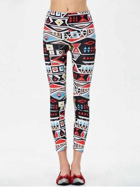 women's Mid Rise Patterned Stretchy Leggings - COLORMIX XL Mobile
