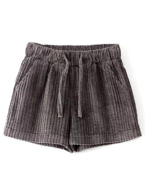 unique Winter Corduroy Shorts - GRAY L Mobile