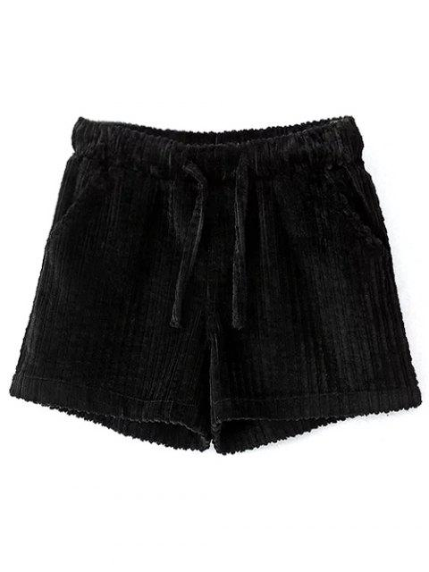 online Winter Corduroy Shorts - BLACK M Mobile
