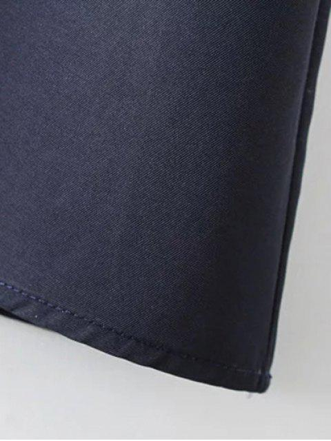 online Bow Tie Tunic Dress - PURPLISH BLUE L Mobile