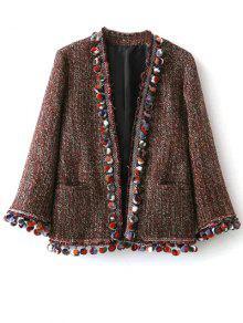 Pompom Tweed Jacket - Multicolor M