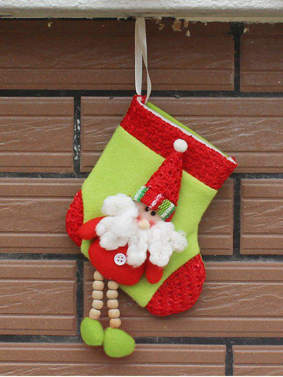 buy Christmas Santa Claus Hanging Candy Present Sock - RED