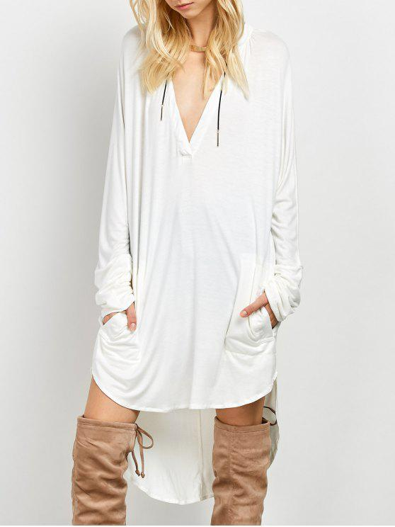 Loose High-Low Dress - Branco S