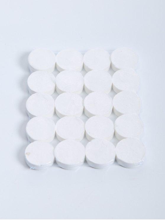20 piezas de algodón comprimido máscara facial - Blanco