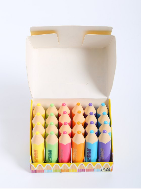24 Pièces Crayon de baume à Lèvres - Multicolore