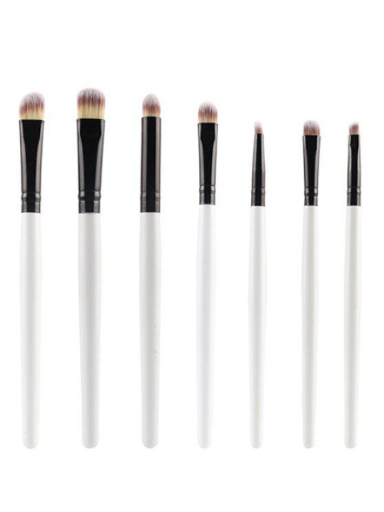 7 Pcs Eye Makeup Brushes Set - Branco