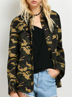 Pocket Camo Jacket - Army Green 2xl