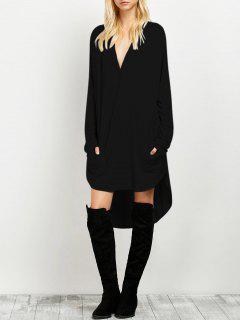 Loose High-Low Dress - Black Xl