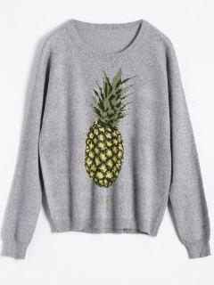 Ananas Jacquard Pull - Gris