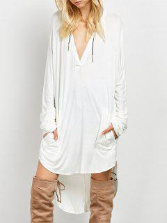 Loose High-Low Dress - White S