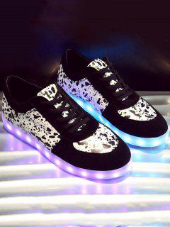 LED Light Sneakers - Black 40