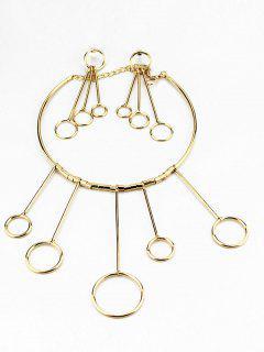 Collier Et Boucles D'oreilles à Pendants De Cercles - Or