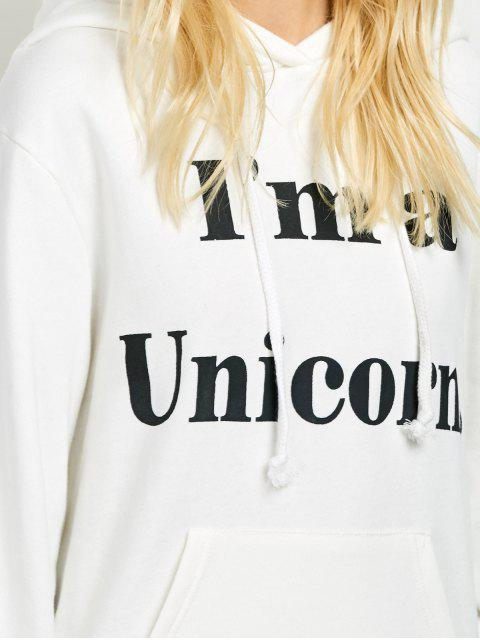 affordable I am a Unicorn Graphic Hoodie - WHITE S Mobile