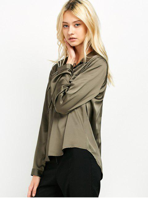 latest OL Lace-Up Shirt - GREEN S Mobile