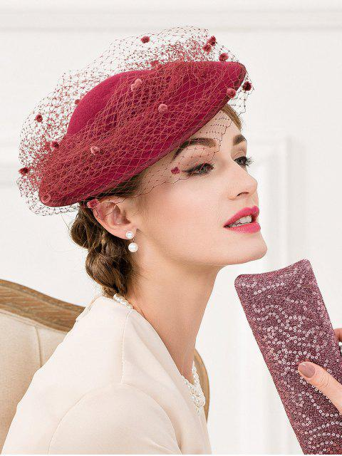 shop Floral Mesh Yarn Cocktail Hat -   Mobile