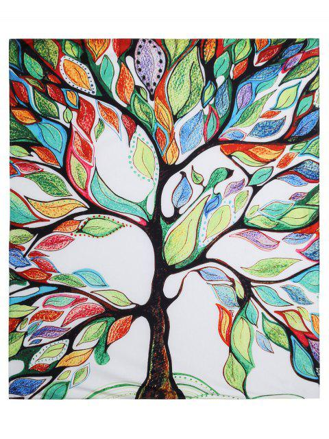 outfit Colorful Tree Off Life Tapestry Beach Blanket - WHITE L Mobile
