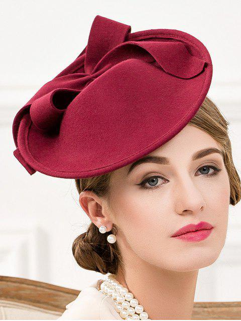 womens Bowknot Felt Cocktail Hat -   Mobile