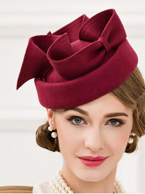 women Big Bowknot Felt Pillbox Hat -   Mobile