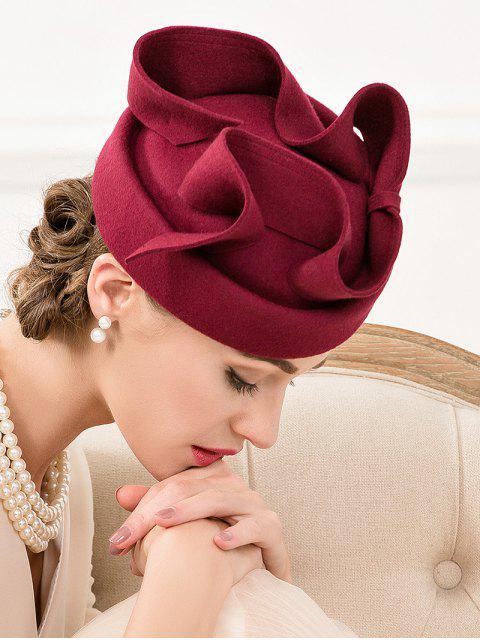 women Big Bowknot Felt Pillbox Hat -   Mobile