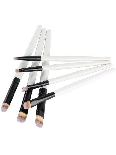Set de pinceaux de maquillage des yeux 7 Pcs - Blanc  Mobile