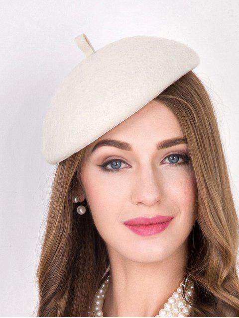 new Wool Felt French Beret - OFF-WHITE  Mobile