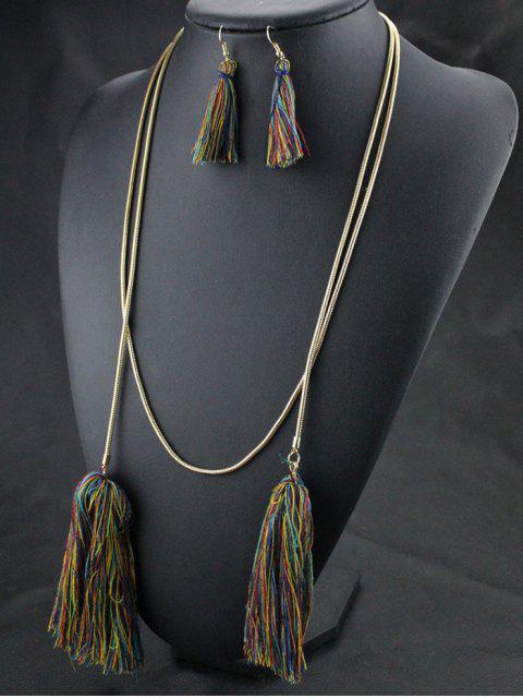 new Tassel Necklace Drop Earrings and Bracelet -   Mobile