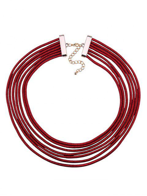latest Artificial Leather Rope Layered Choker Necklace -   Mobile