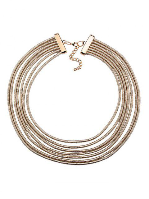 trendy Artificial Leather Rope Layered Choker Necklace -   Mobile