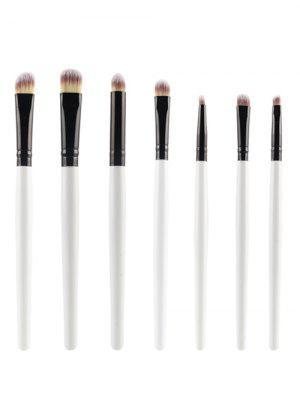 7 Pcs Eye Makeup Brushes Set - White