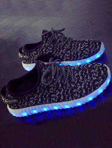 أحذية رياضية LED - أسود 41