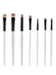 7 Us Ojos Cepillos Del Maquillaje Conjunto - Blanco