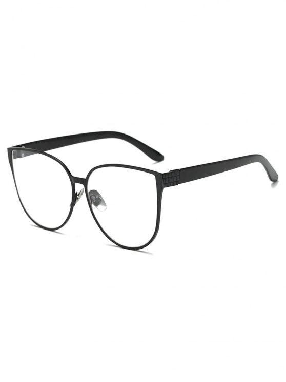 Gafas de sol de la mariposa de gran tamaño - Negro