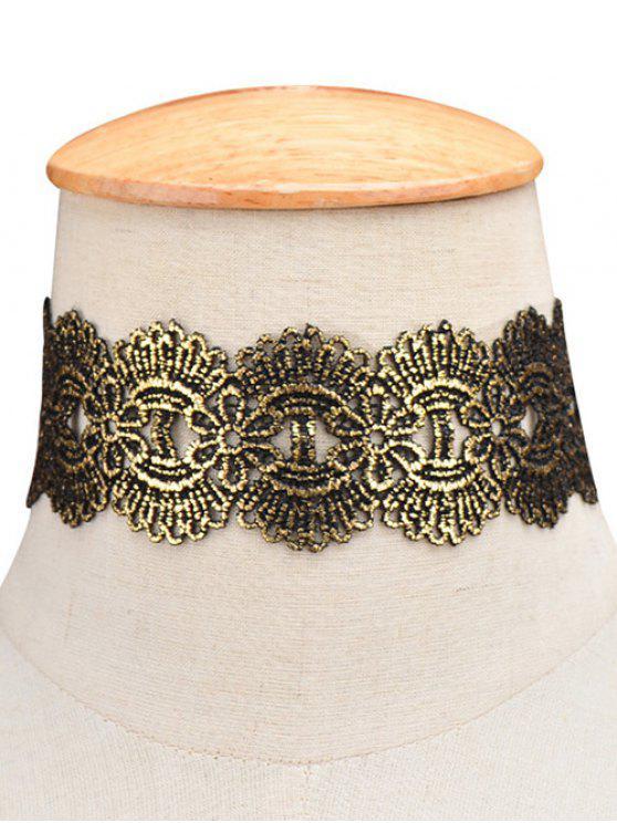 Medallón ancha Gargantilla - Dorado