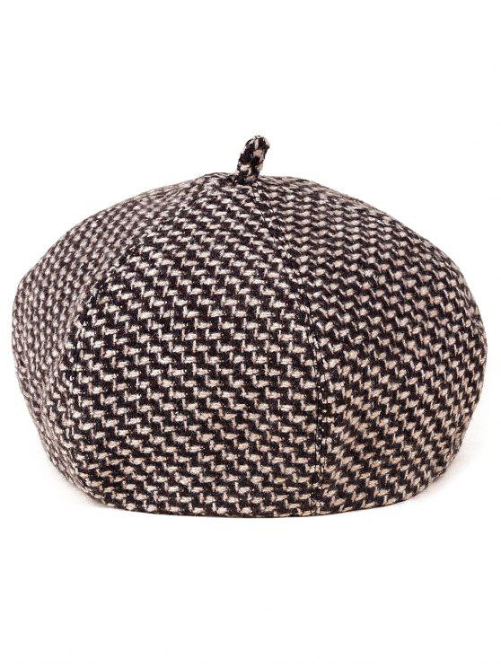 new Crochet Zigzag Painter Beret - COFFEE