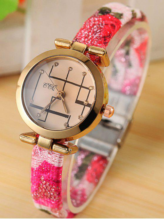 online Rhinestone Analog Quartz Watch - TUTTI FRUTTI