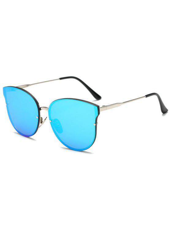 Llantas completo con espejo gafas de sol de la mariposa - Azul Hielo