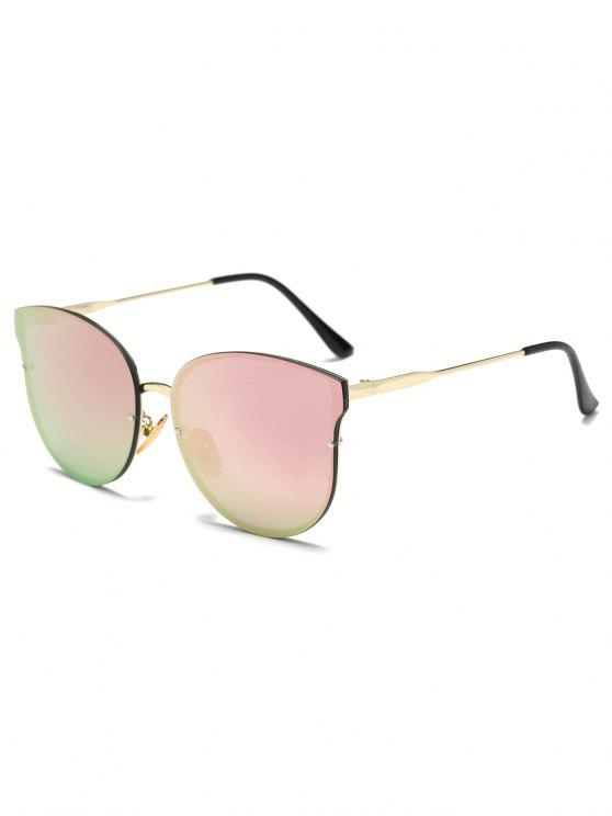 hot Full Rims Butterfly Mirrored Sunglasses - PINK