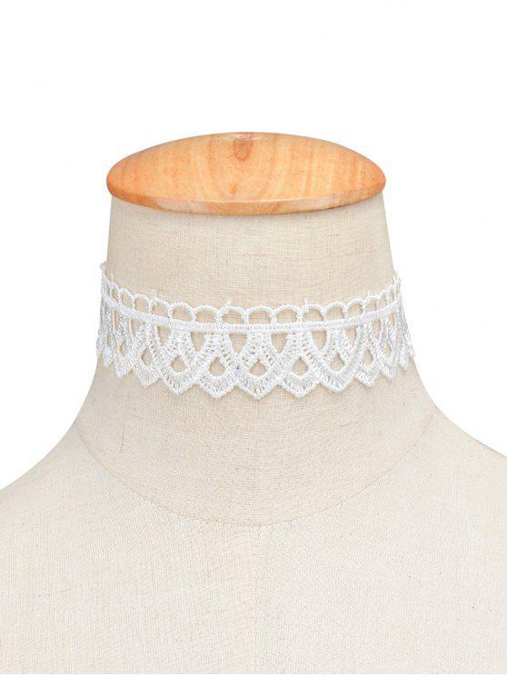 الرباط خمر الهندسية المختنق - أبيض