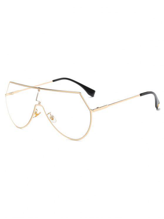 Escudo transparentes lente gafas de sol - Dorado